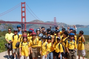 Troop 60 on the Golden Gate Bridge Ride