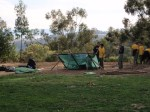 Building Shelters at Puma Point