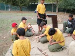 Scouts build fires without matches at Lake Chabot