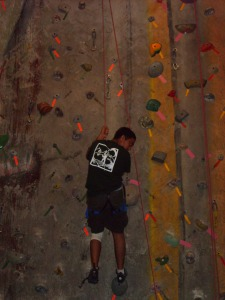 Scout Climbing at Touchstone Gym
