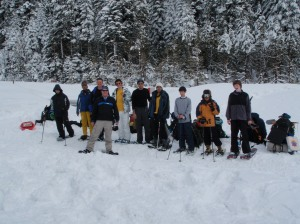 Getting Ready to hike across the snow